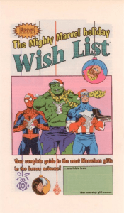 The Mighty Marvel holiday Wish List (1990)