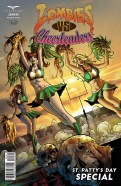 Zombies vs Cheerleaders: St. Patty's Day Special (2015) 1 Pasquale Qualano, Nicole Goff & Kat Lawday cover