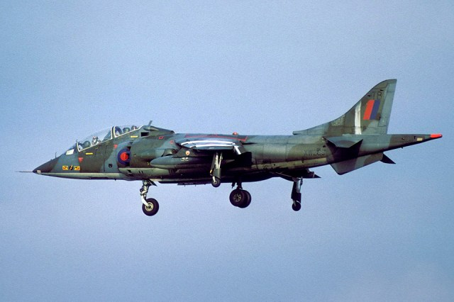 Harrier T2 XW269 photographed at Gutersloh in December 1977 by Wieland Stolze