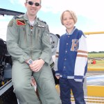 IV(R) Sqn pilot Ben with future pilot Harriet Thompson