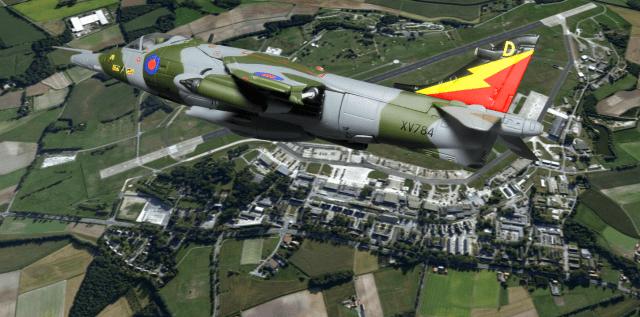Harrier GR3 XV784 'D' over Gütersloh