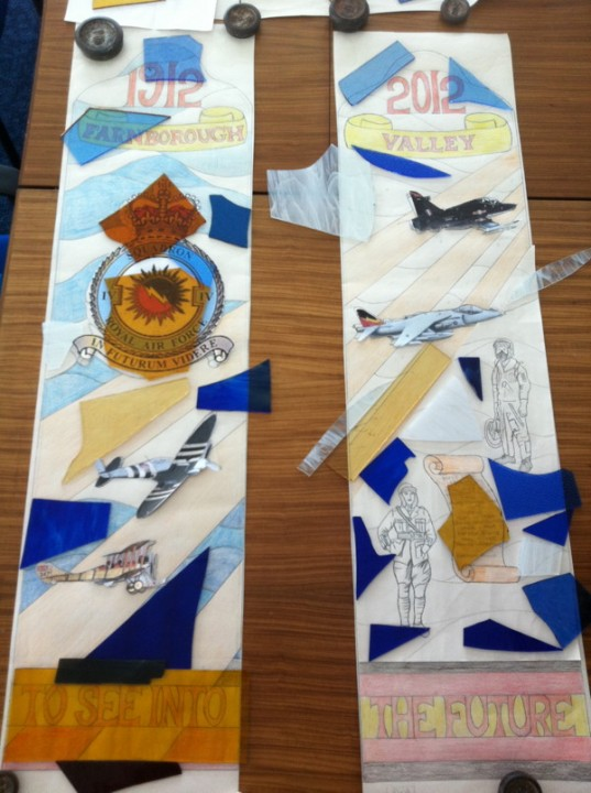 Sqn Stained Glass Window Design
