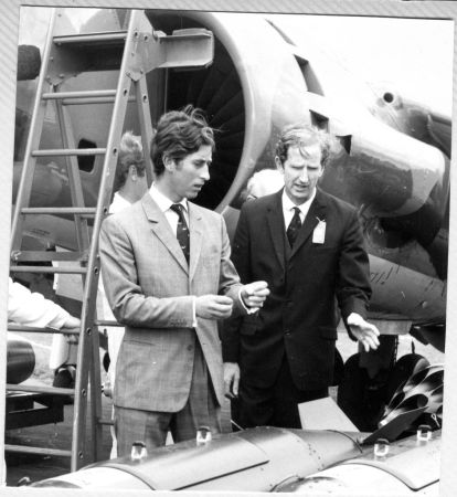 With Prince Charles, 1972