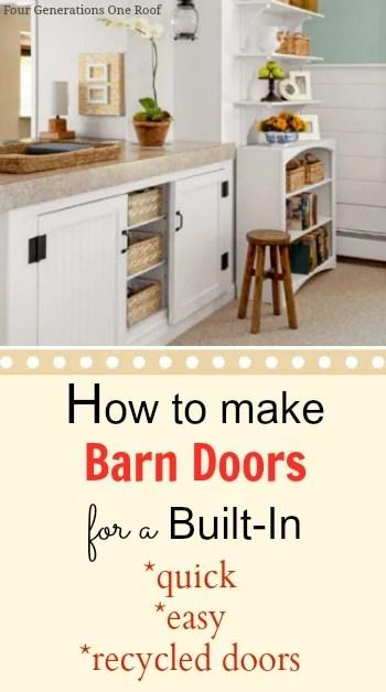 diy built in barn door tutorial