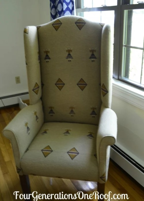Diy Reupholstered Wingback Chair Four