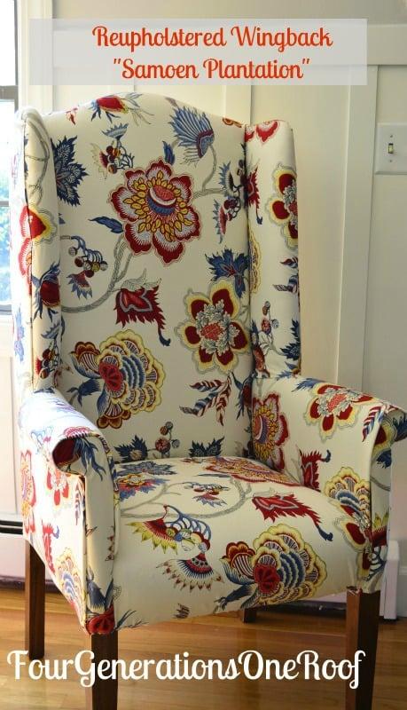 IMAN samoen plantation fabric, DIY, reupholstered