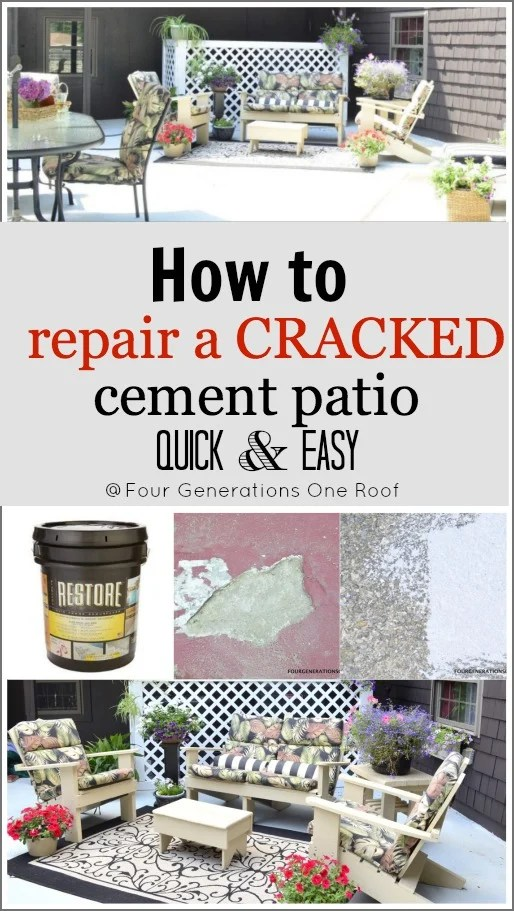 how to repair a cracked cement patio with RESTORE