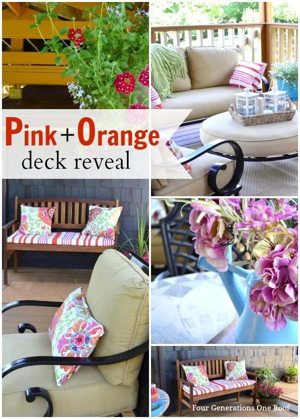 pink + orange deck reveal