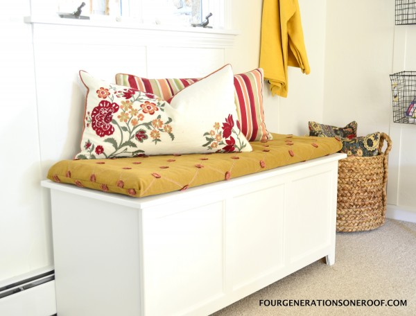 DIY shoe storage {how to repurpose an old toy box}