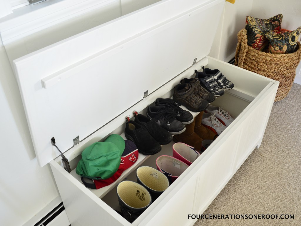 Easy organization projects DIY shoe storage {how to repurpose a toy box}