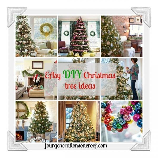 Easy DIY christmas tree ideas