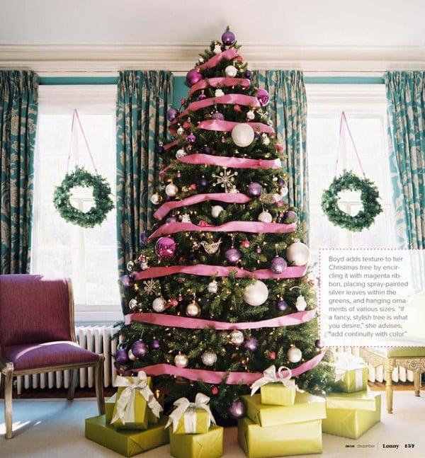 elegant ribbon christmas tree