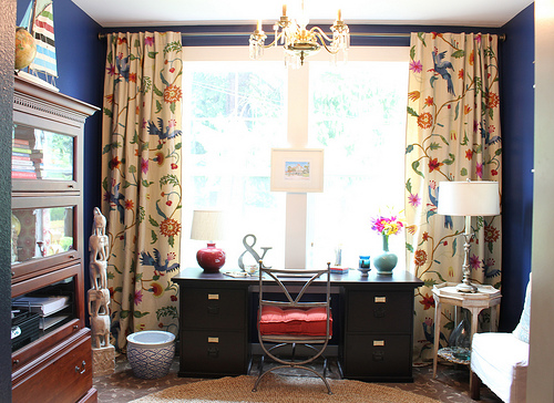 anthropologie curtains model home family room makeover