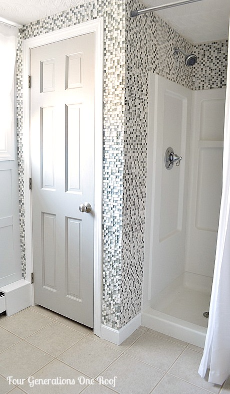 DIY budget bathroom renovation closet
