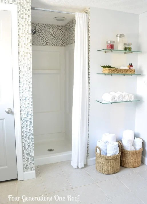 DIY budget bathroom renovation shower