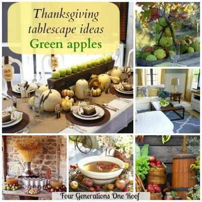 Thanksgiving tablescape ideas + apples