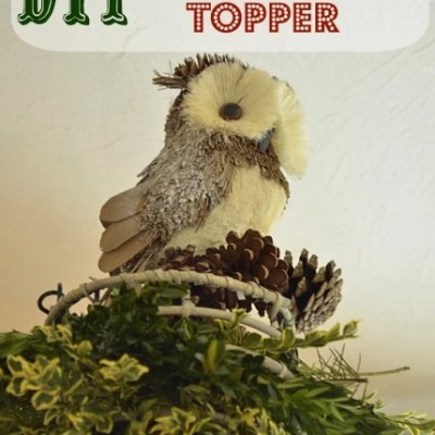 DIY Christmas decorations {owl topper}