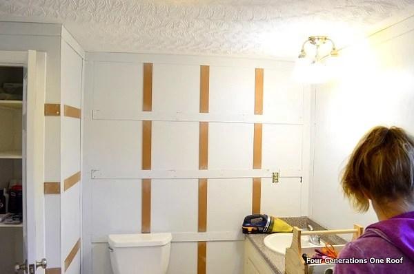 bathroom wainscoting board and batten