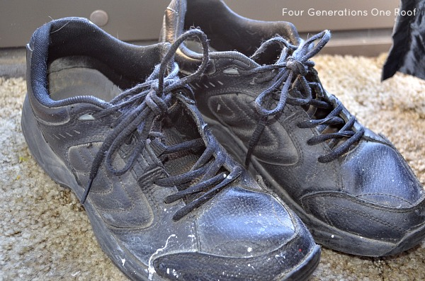 grandfather double knotted sneakers