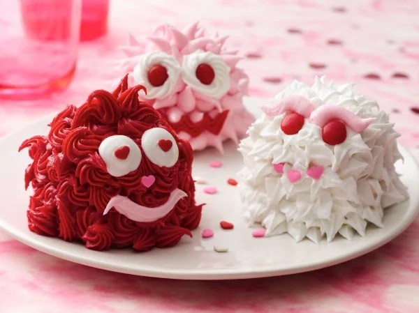 valentines day monster cupcakes