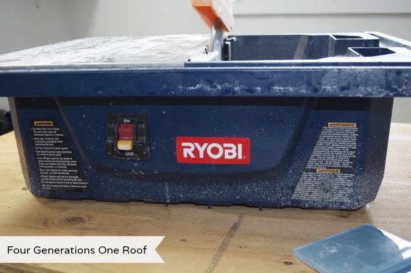 Ryobi wet saw for tiling