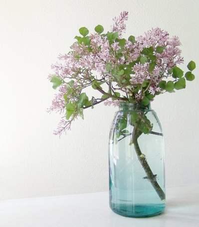 antique blue mason jar