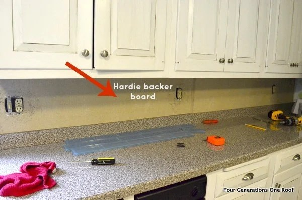 how to intall a removable backsplash