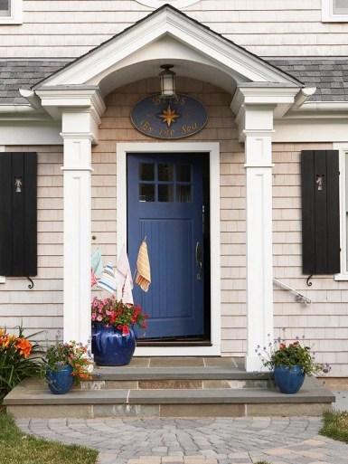 bright blue front door color ideas