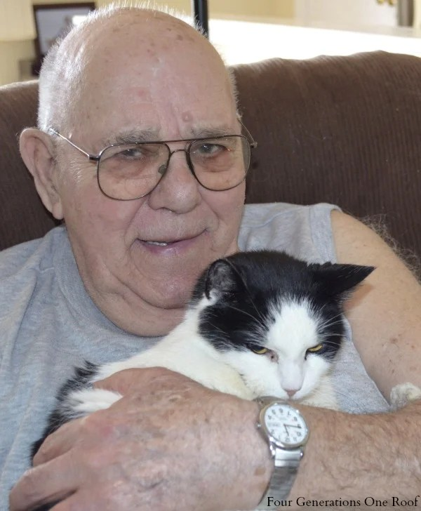 my grandfather and his cat