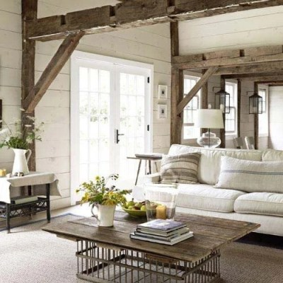 The beauty of reclaimed lumber wooden beams