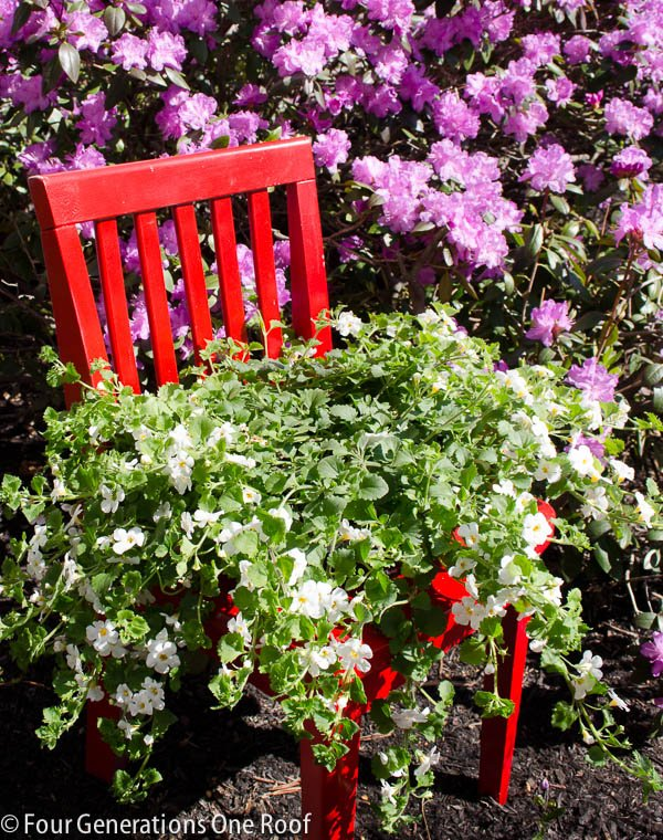 Repurpose Chair Into A Planter | Repurpose Furniture: The Best Way To Upgrade Your Home Living Economically