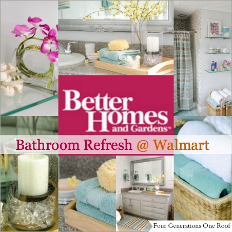 bathroom refresh with better homes and garden