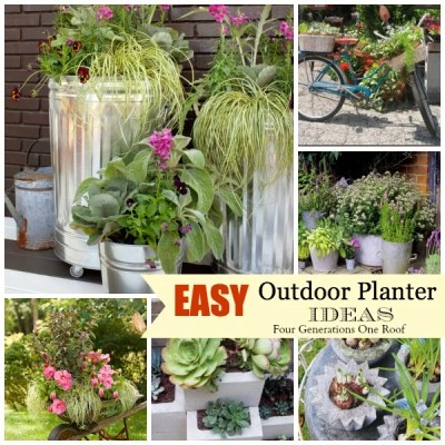 Easy + creative outdoor planters