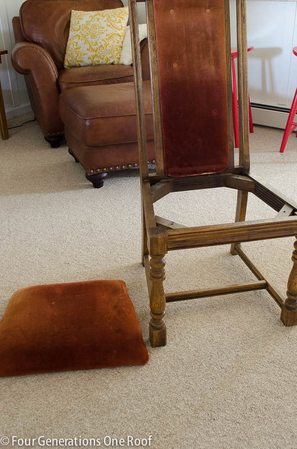 How to reupholster a dining chair  Four Generations One Roof