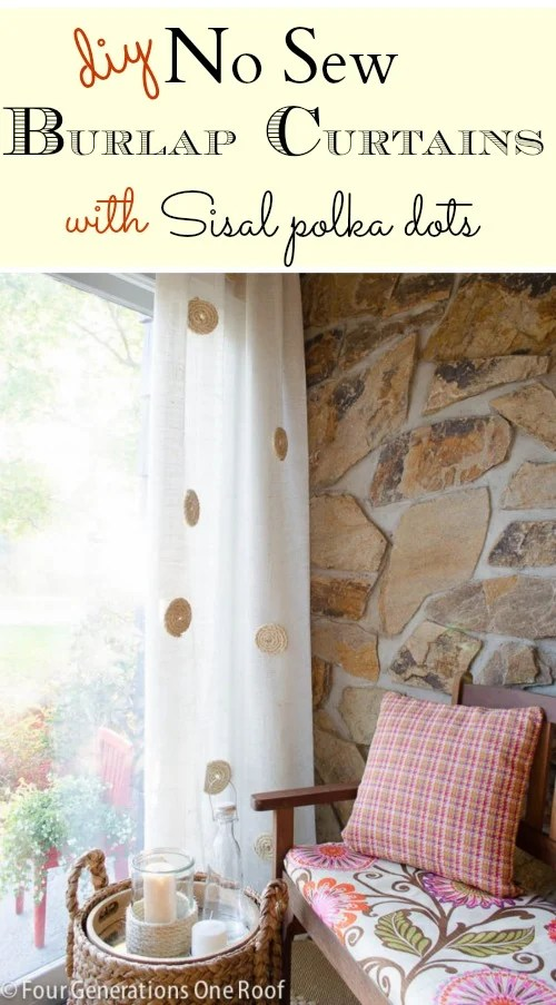 diy no sew burlap curtains
