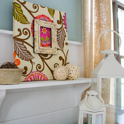 Fabric DIY Wall Art {tutorial}