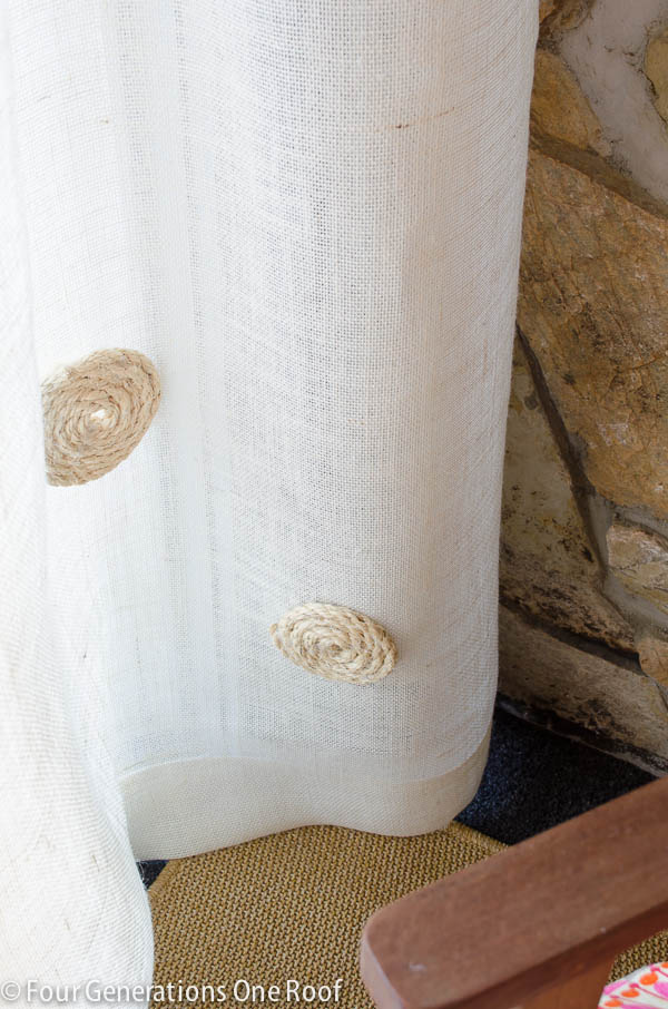 no sew diy burlap curtains