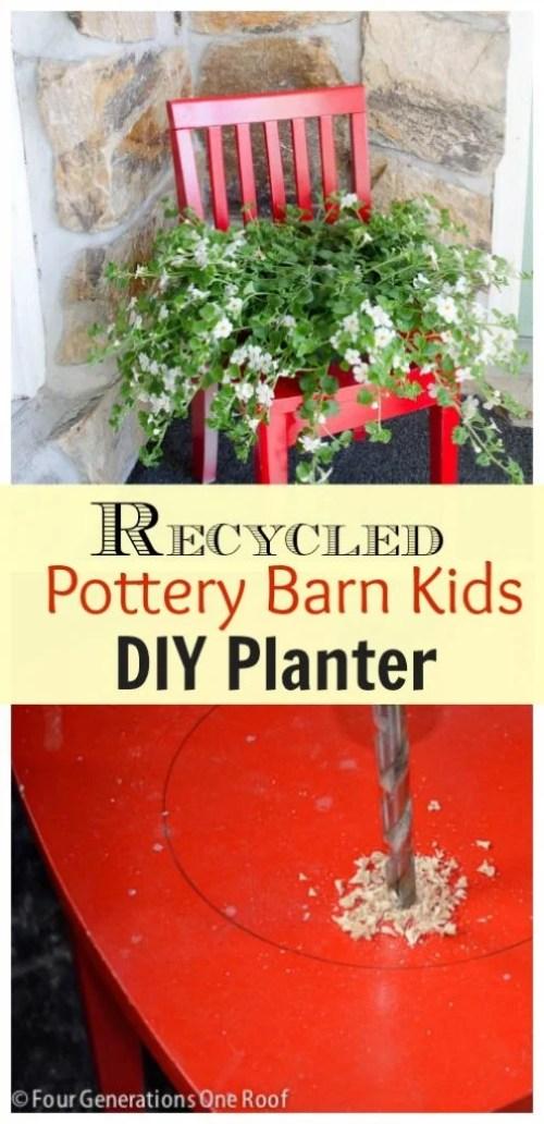 recycled diy planter