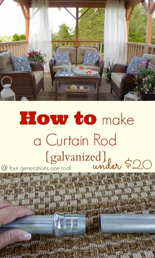 how to make a curtain rod galvanized