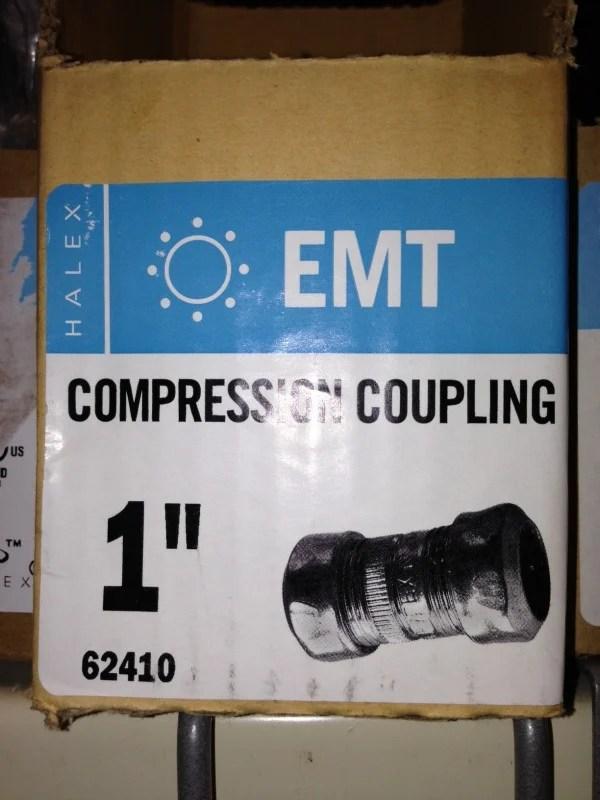 compression coupling for outdoor diy curtain rod