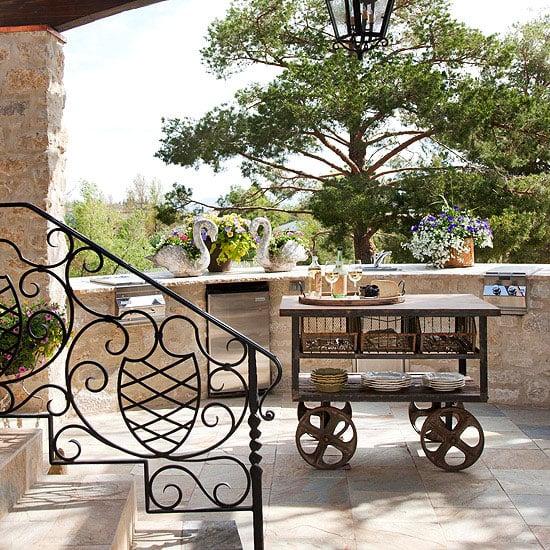 outdoor kitchen island cart