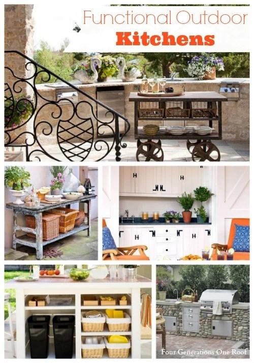 functional outdoor kitchen