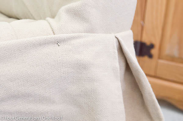pottery barn white couch slipcover