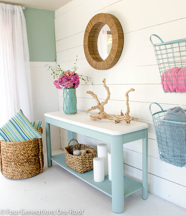 our pool house makeover