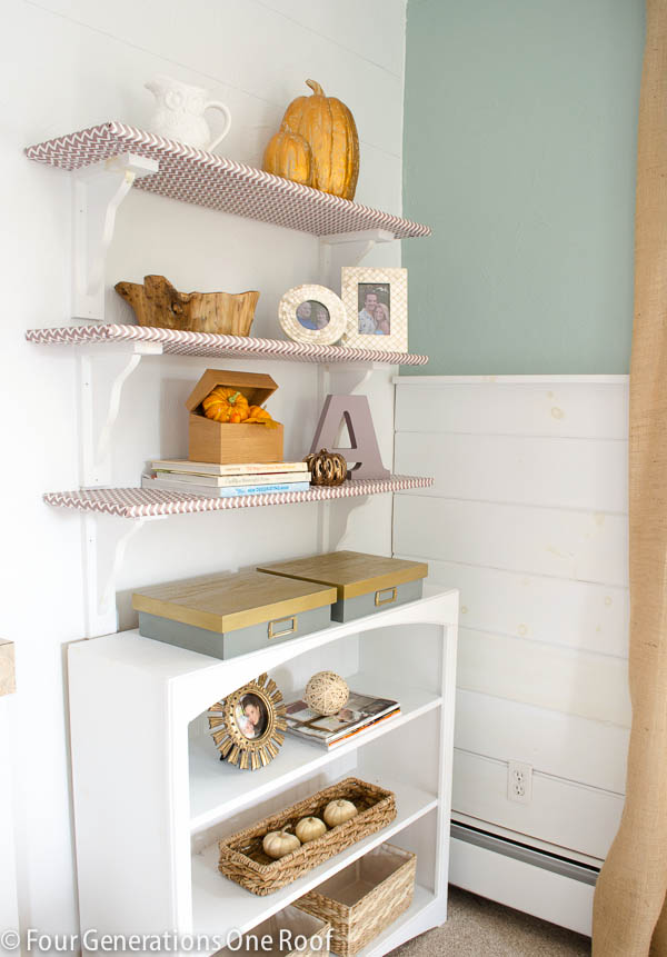 lavender_gold_bookcase_decorating-