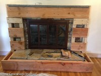 Our fireplace makeover stage 3 {covering the stone with ...