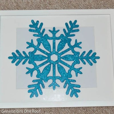 DIY Snowflake Wall Art {under $2}