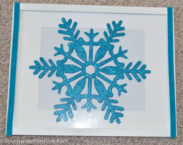 DIY snowflake wall art-3