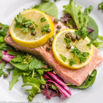 "Baked Salmon Fillet ""The Feast of the Seven Fishes"""