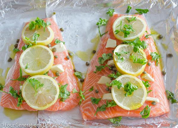 baked salmon fillet-5